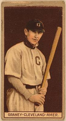 Canadian Sports Photograph - Jack Graney Baseball Card by Georgia Fowler