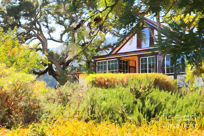 Jack London Countryside Cottage And Garden 5d24570 Print by Wingsdomain Art and Photography