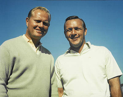 Arnold Photograph - Jack Nicklaus And Arnold Palmer by Retro Images Archive