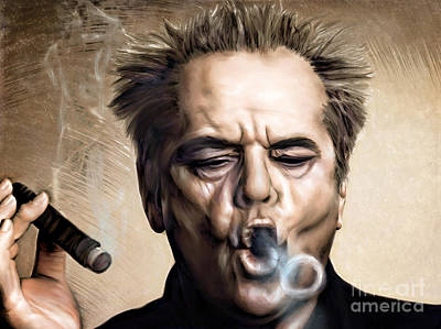 Celebrities Painting - Jack Nicholson by Andrzej Szczerski