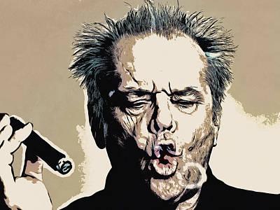 Comics Painting - Jack Nicholson by - BaluX -