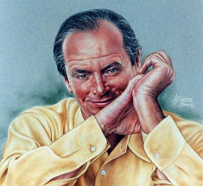Jack Nicholson Drawing - Jack Nicholson Portrait by Victor Powell