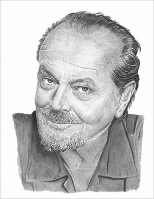 Jack Nicholson Drawing - Jack Nicholson by Stu Black