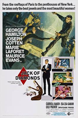 Jack Of Diamonds, Top L-r Marie Print by Everett