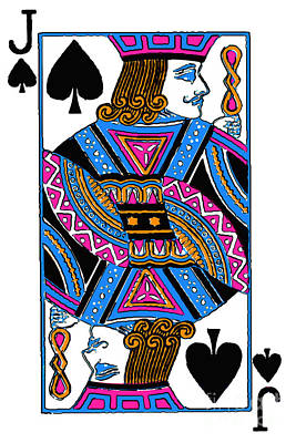 Jack Of Spades - V3 Print by Wingsdomain Art and Photography