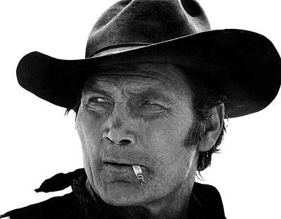Jack Palance Photograph - Jack Palance Monte Walsh Set Old Tucson Arizona 1969 by David Lee Guss
