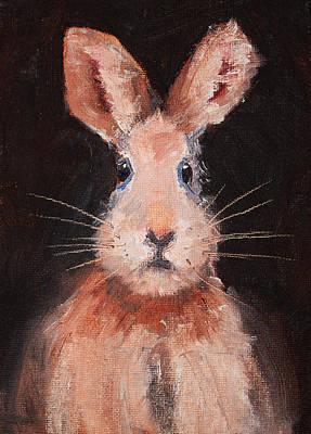 Furry Painting - Jack Rabbit by Nancy Merkle