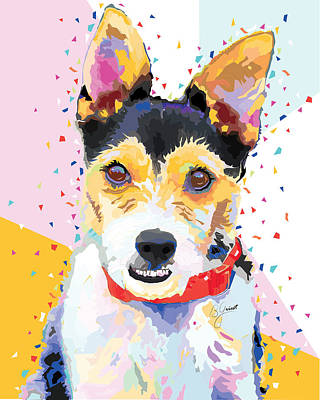 Jack Russell Terrier  Print by Bonnie Griest