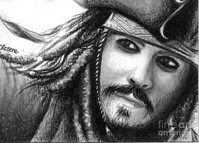 Orlando Bloom Drawing - Jack Sparrow by Crystal Rosene