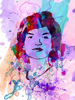 Civil Rights Painting - Jackie Kennedy Watercolor by Naxart Studio