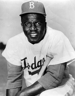 Baseball Photograph - Jackie Robinson Portrait by Gianfranco Weiss