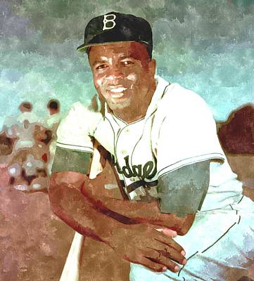 Baseball Painting - Jackie Robinson by Gianfranco Weiss