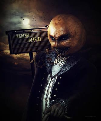 Creepy Digital Art - Jack's Back by Shanina Conway
