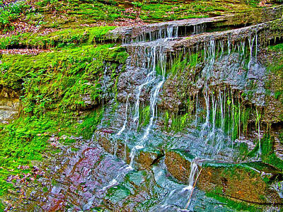 Jackson Falls At Mile 405 Natchez Trace Parkway-tennessee Print by Ruth Hager