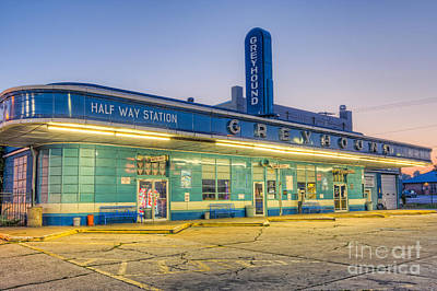 Jackson Greyhound Bus Station I Print by Clarence Holmes
