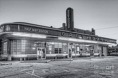 Jackson Greyhound Bus Station II Print by Clarence Holmes