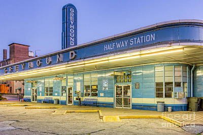 Jackson Greyhound Bus Station IIi Print by Clarence Holmes