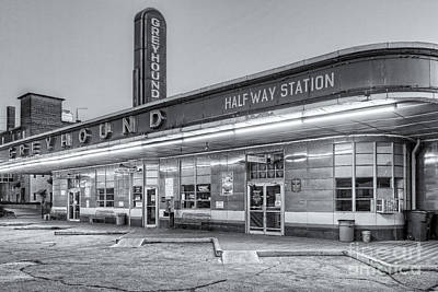 Jackson Greyhound Bus Station Iv Print by Clarence Holmes