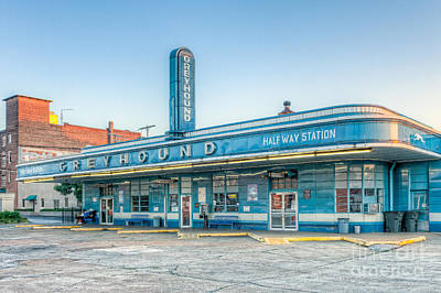 Jackson Greyhound Bus Station V Print by Clarence Holmes