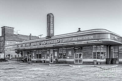 Jackson Greyhound Bus Station Vi Print by Clarence Holmes