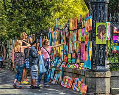 Buy Digital Art - Jackson Square Art - Paint by Steve Harrington