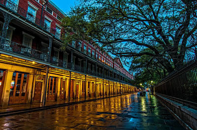 Jackson Square At Dawn Print by Andy Crawford
