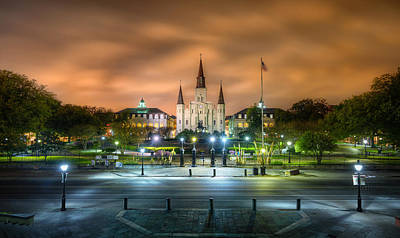 French Photograph - Jackson Square At Night by Tim Stanley