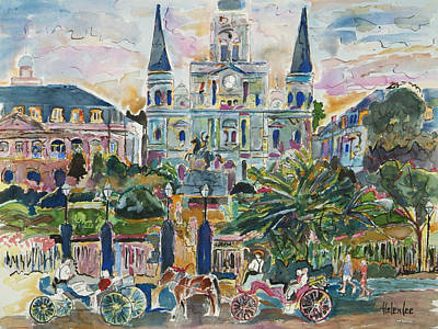Jackson Square Print by Helen Lee