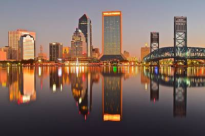 Downtown Nashville Photograph - Jacksonville At Dawn by Frozen in Time Fine Art Photography