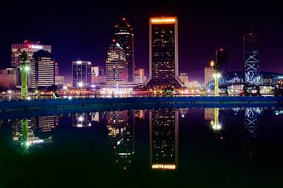Jacksonville Reflects Print by Frozen in Time Fine Art Photography