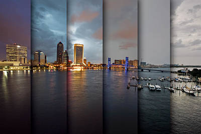 Jacksonville Skyline Montage Print by Chris Moore