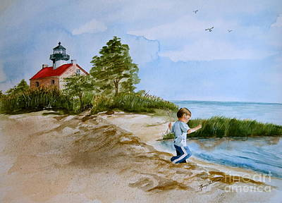 Jacob At East Point  Print by Nancy Patterson