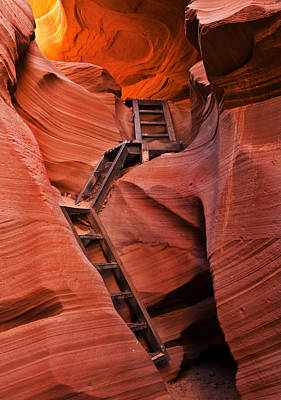 Antelope Canyon Photograph - Jacob's Ladder by Mike  Dawson