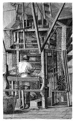 Jacquard Loom Print by Science Photo Library
