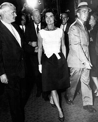 Jacqueline Kennedy Doesn't Need A Red Carpet Print by Retro Images Archive