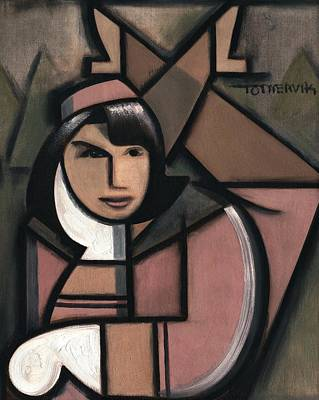 Art Deco Jacqueline Kennedy Art Print Print by Tommervik