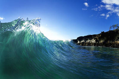 Abstract Seascape Photograph - Jade Crystal by Sean Davey