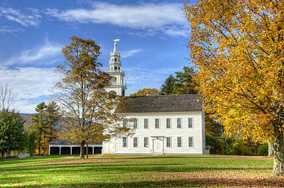 Grass Photograph - Jaffrey Meetinghouse by Donna Doherty