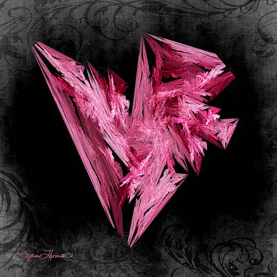 Valentines Day Photograph - Jagged Pink Heart by Sylvia Thornton