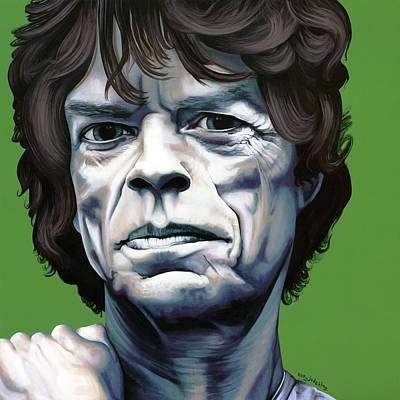 Rolling Stone Magazine Mixed Media - Jagger by Kelly Jade King