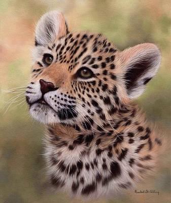Big Cat Art Painting - Jaguar Cub Painting by Rachel Stribbling