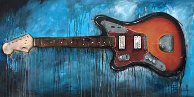 Stratocaster Mixed Media - Jaguar Nirvana by Sean Parnell