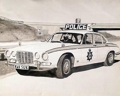 Jaguar Xj6 Cop Car Original by Sid Fox