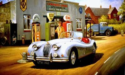 Jaguar Xk 140 Original by Mike  Jeffries