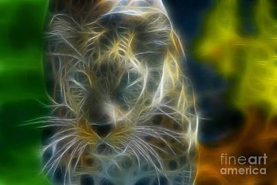 Jaguar208-fractal Print by Gary Gingrich Galleries