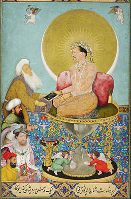 Turkish Painting - Jahangir Preferring A Sufi Sheikh To Kings by Celestial Images
