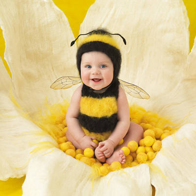 Yellow Photograph - Jai by Anne Geddes
