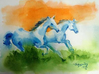 Hind Painting - Jai Hind by Sagarika Sen