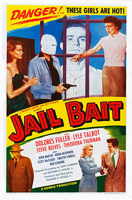 Jail Bait, Lyle Talbot Bottom Left Print by Everett