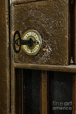 Public Jail Photograph - Jail Cell Door Lock  And Key Close Up by Paul Ward